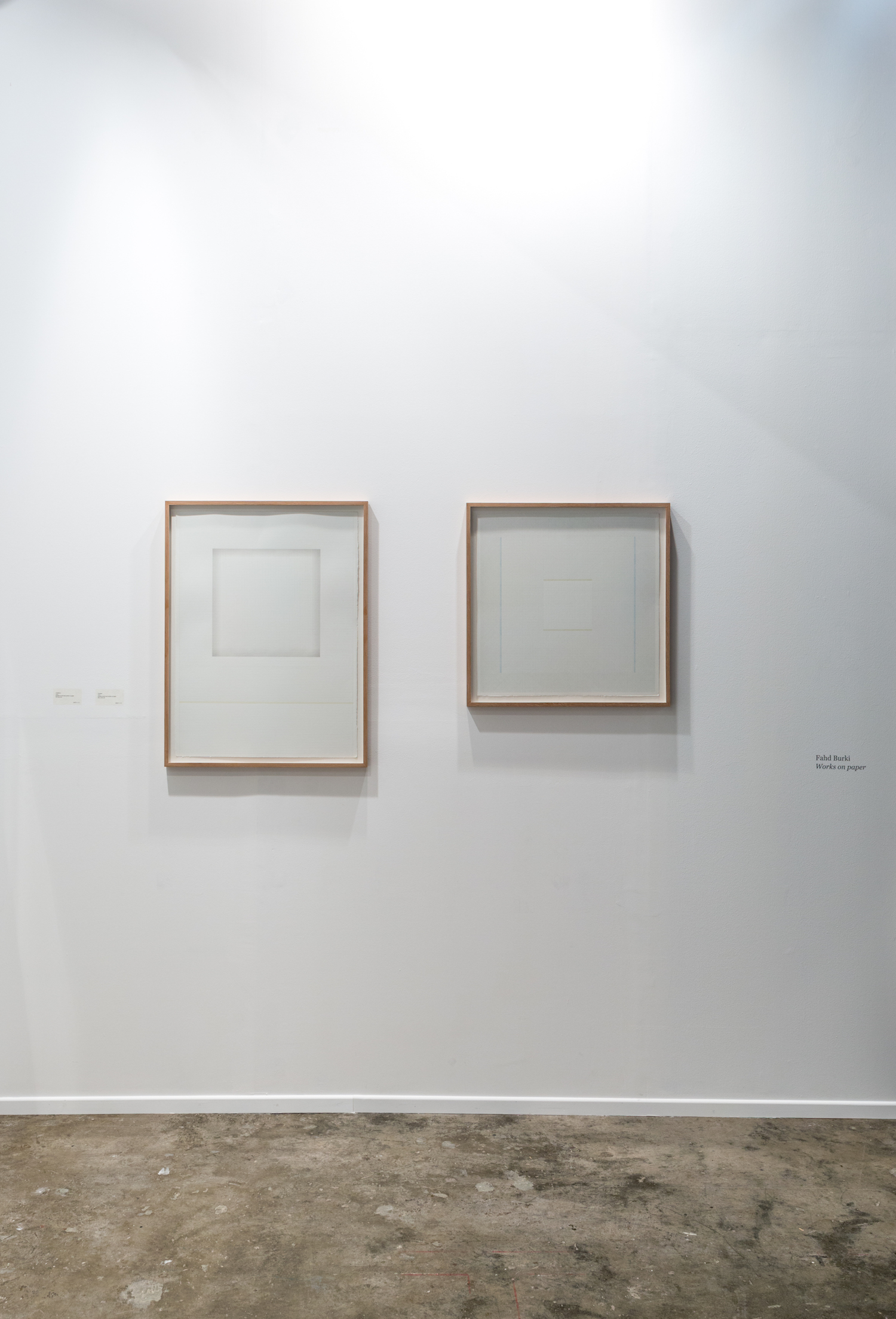LEFT - RIGHT  LEFT: Untitled 3, 2016, graphite pencil and acrylics on paper, 76 x 56.5 cm  //  RIGHT: Untitled, 2016, graphite pencil and acrylics on paper, 56.5 x 56.5 cm