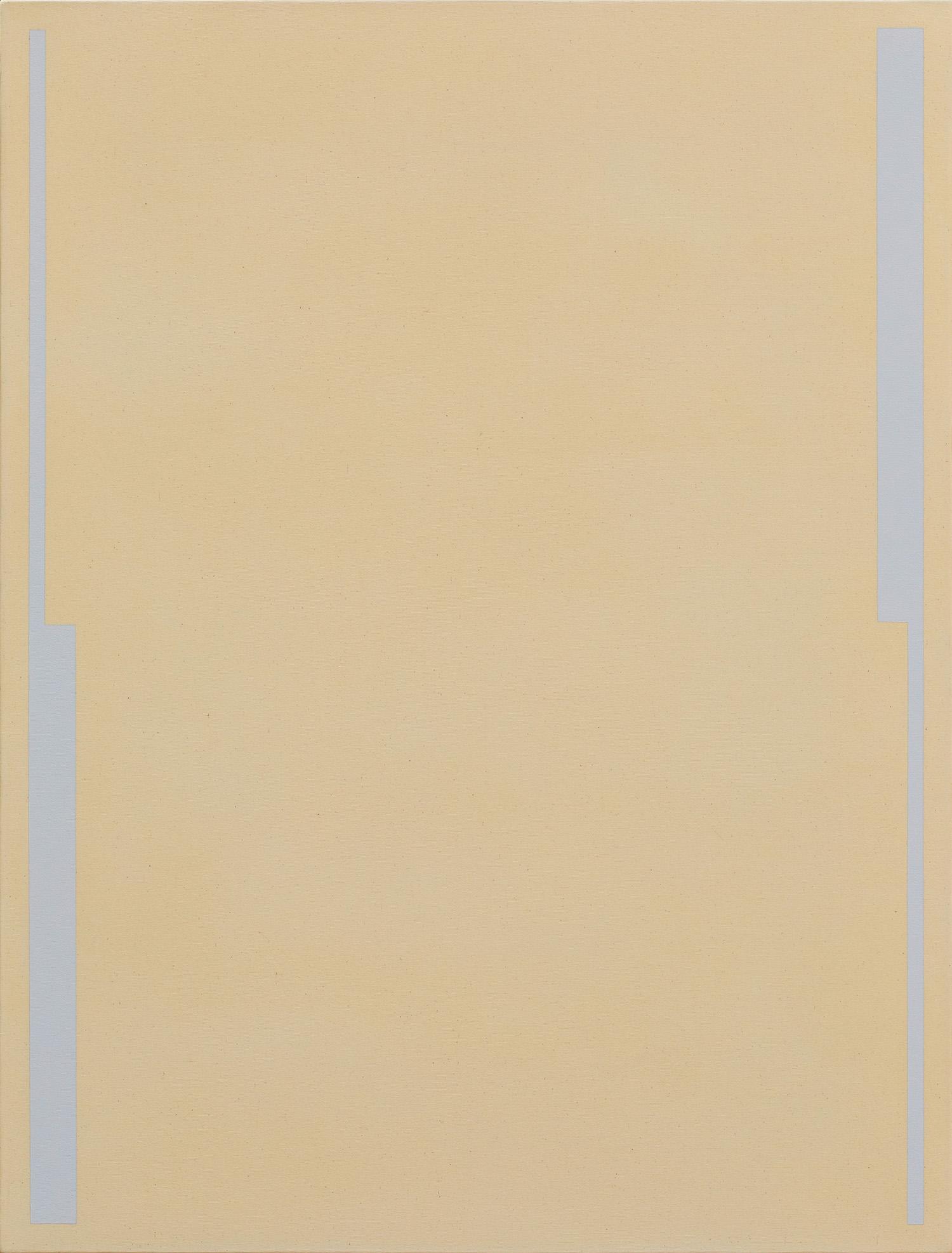 Fahd Burki  Untitled 1 2018 Acrylic gesso on canvas 84 x 64 cm