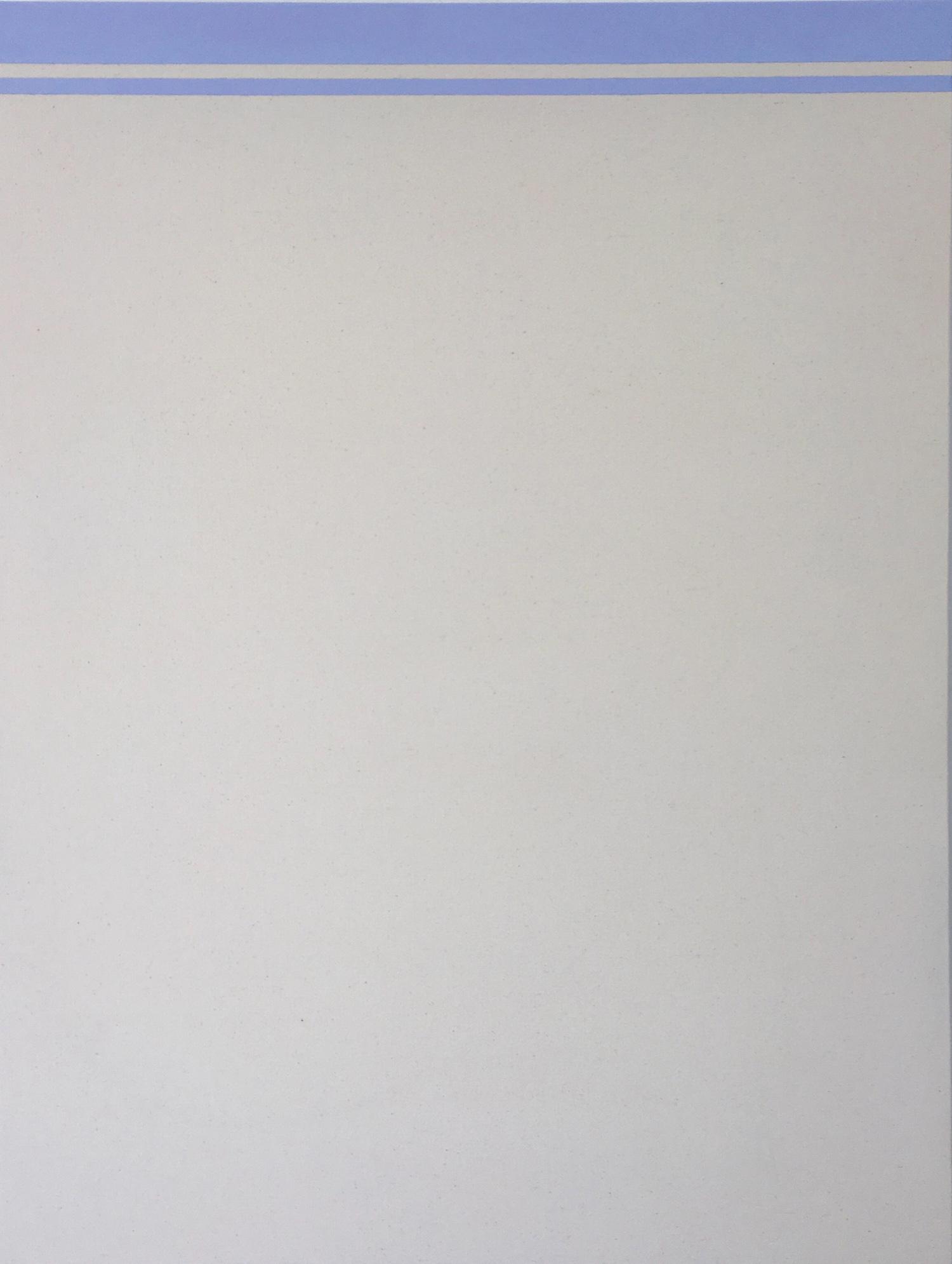 Fahd Burki  Untitled 3 2018 Acrylic gesso on canvas 84 x 64 cm