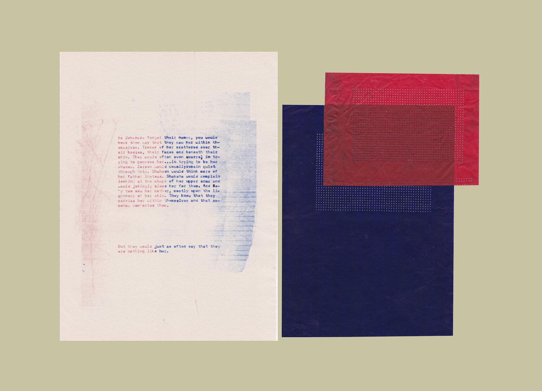 Coloured Fields 20 2019 Paper, ink, carbon paper 38 x 50.8 cm
