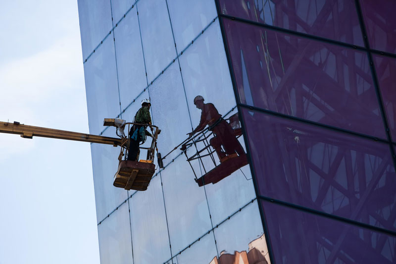High level window cleaning for businesses
