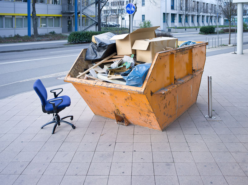 Commercial skip as part of waste disposal service in the Midlands