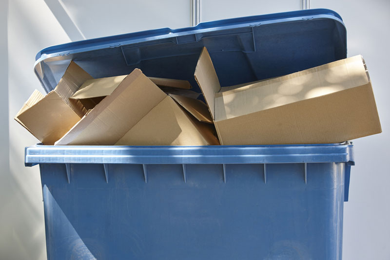 Recycling bins as part of waste disposal service