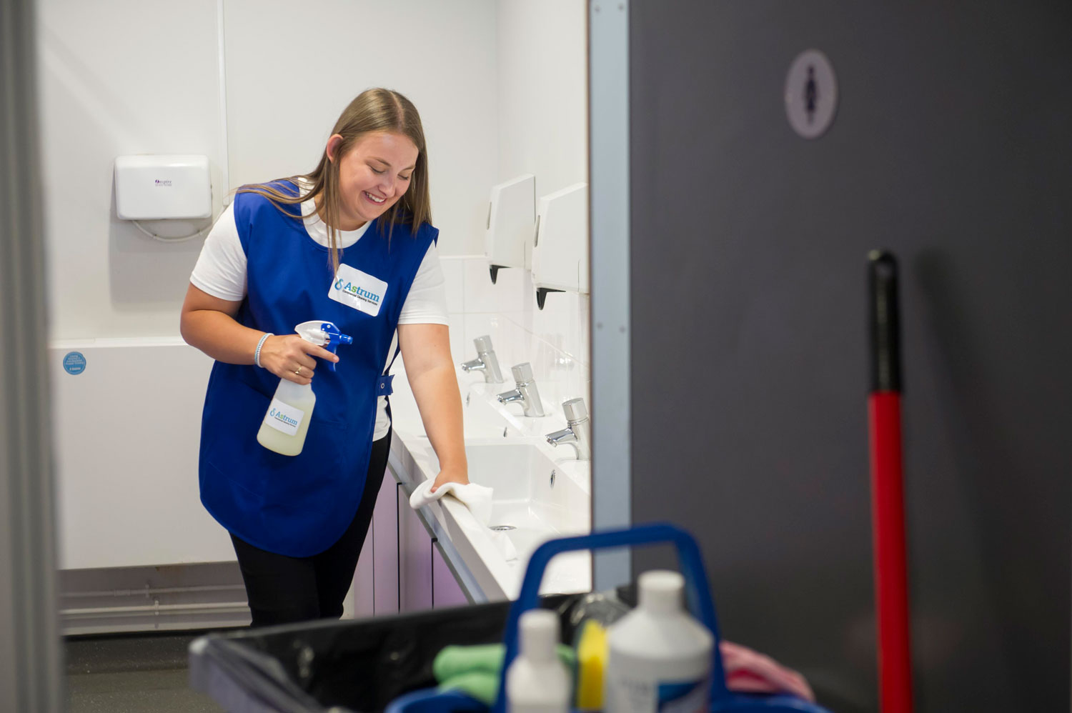 Astrum providing commercial washroom cleaning products