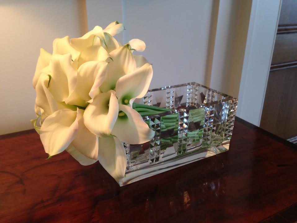 Floral arrangement for residential decor.