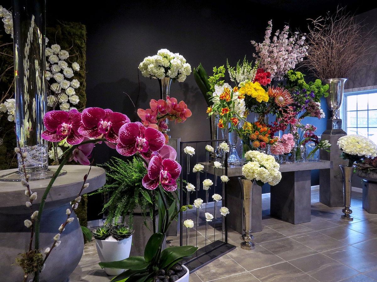 Unique Flower Arrangement at Bouquets & Beyond of Woodbury, Connecticut.