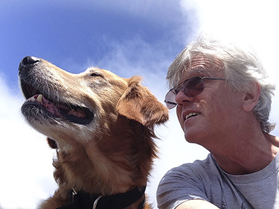James and his dog, Mikho 2016