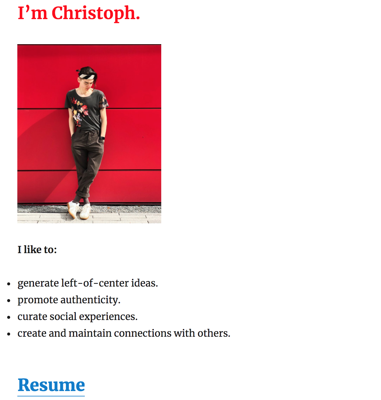 A landing page designed to drive resume downloads.  Look familiar?