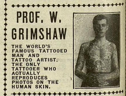 Prof. William Grimshaw from a Pollie & Zeidman advertisement,  The Billboard , July 29, 1916.