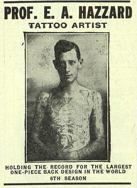 Prof. Eddie Hazzard from a Pollie & Zeidman advertisement,  The Billboard , June 9, 1917.