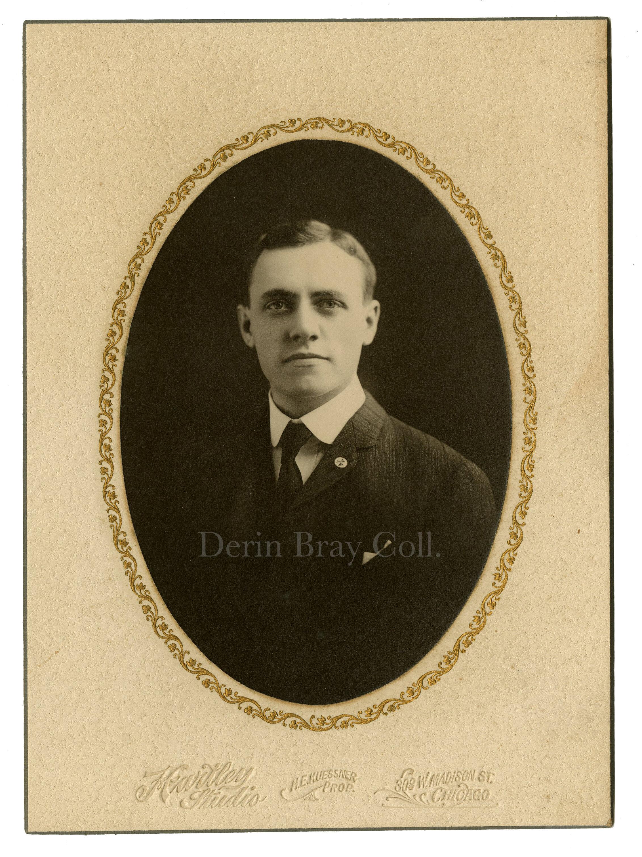 Edward J. Miller, cabinet photo by Hartley Studio, Chicago, ca. 1903.   Derin Bray Collection