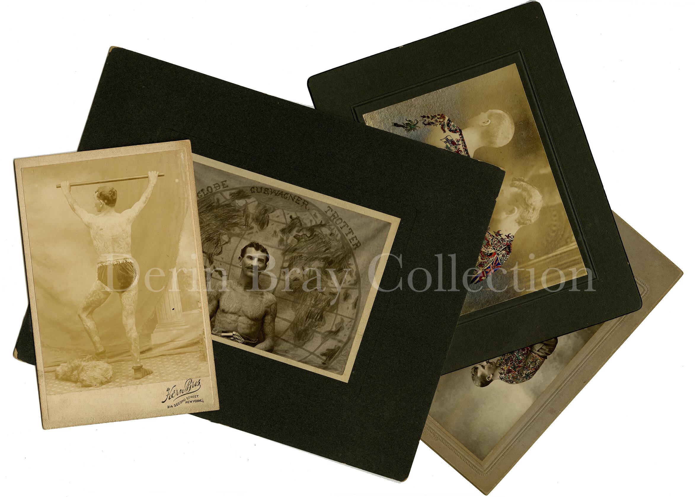 copyright 1907 1909 Mrs. Maud M Stevens Wagner tattooed woman original gus wagner antique photographs