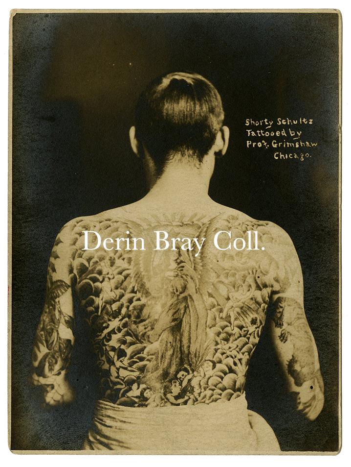 Shorty Schultz, tattooed by Prof. William Grimshaw, Chicago, ca. 1919.   Collection of Derin Bray