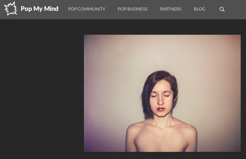 Memory by Hannah E Ward - (screenshot from popmymind.com)