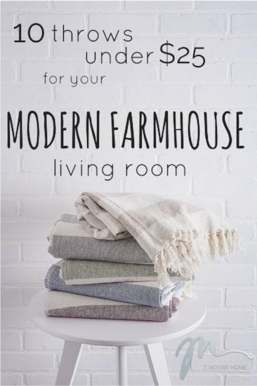 modern farmhouse throws