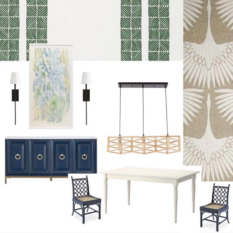modern dining room wallpaper navy blue.jpeg