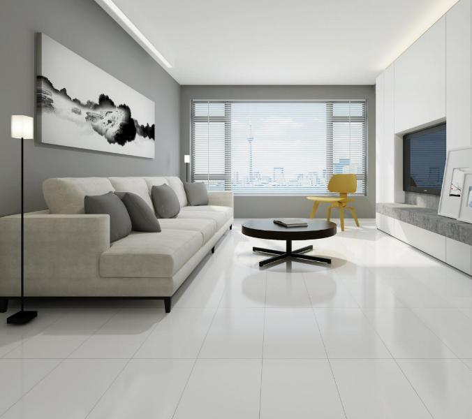Super White Porcelain Tile - Floor & Decor