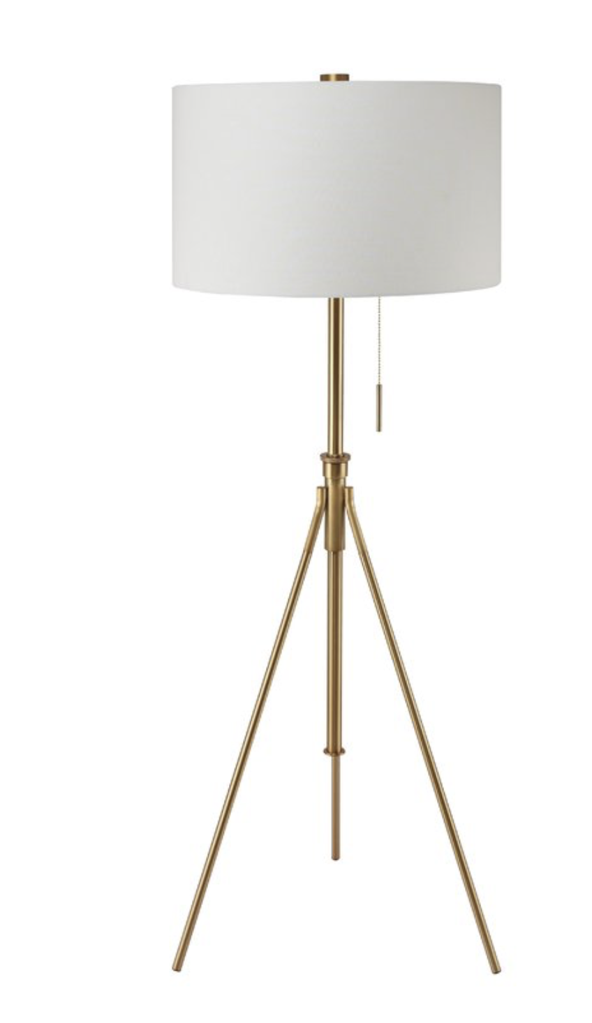 pottery barn style tripod lamp for less
