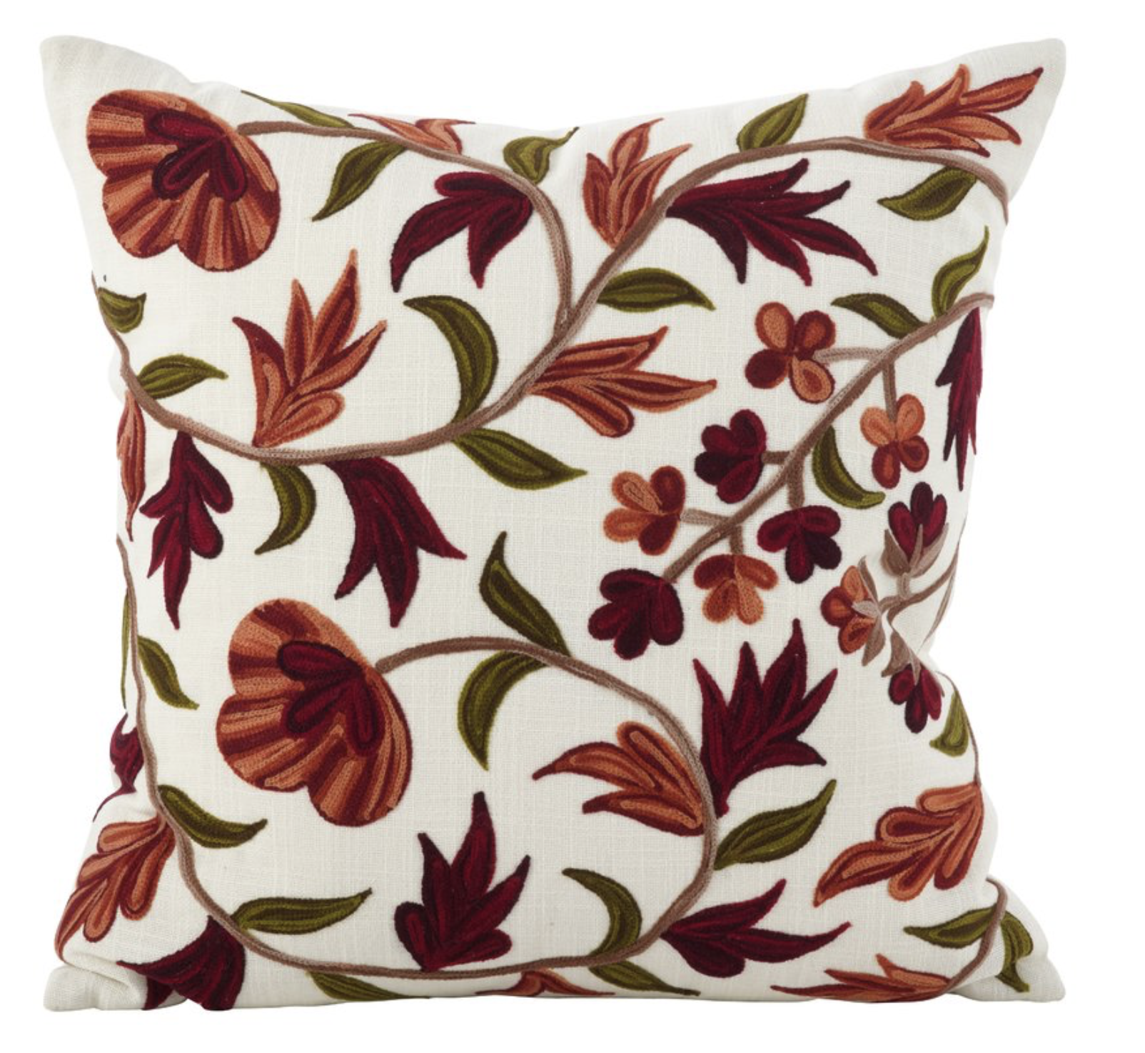 pottery barn style embroidered throw pillow for less