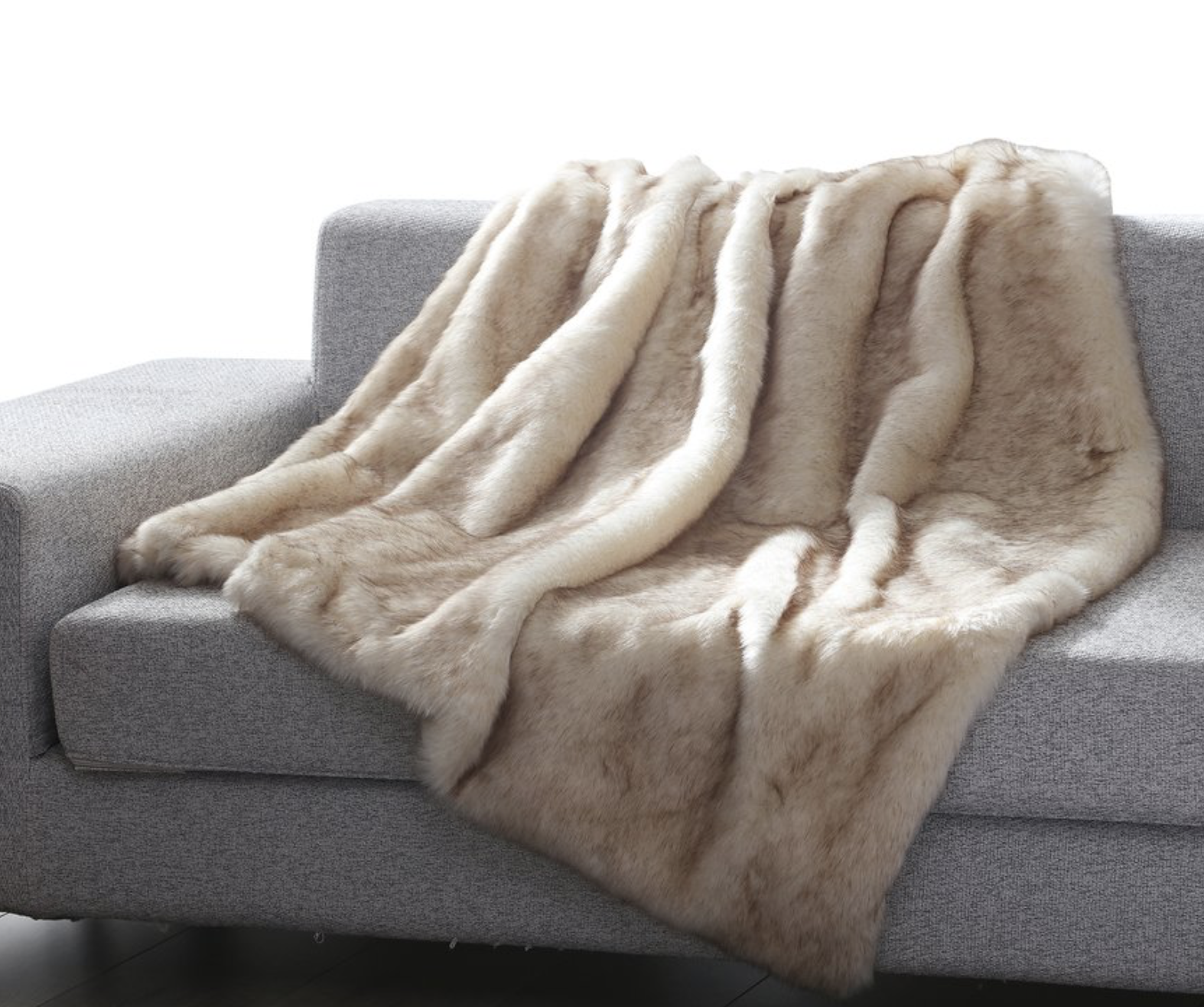 pottery barn style faux fur throw for less