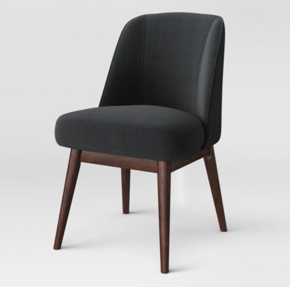 modern gray side chair