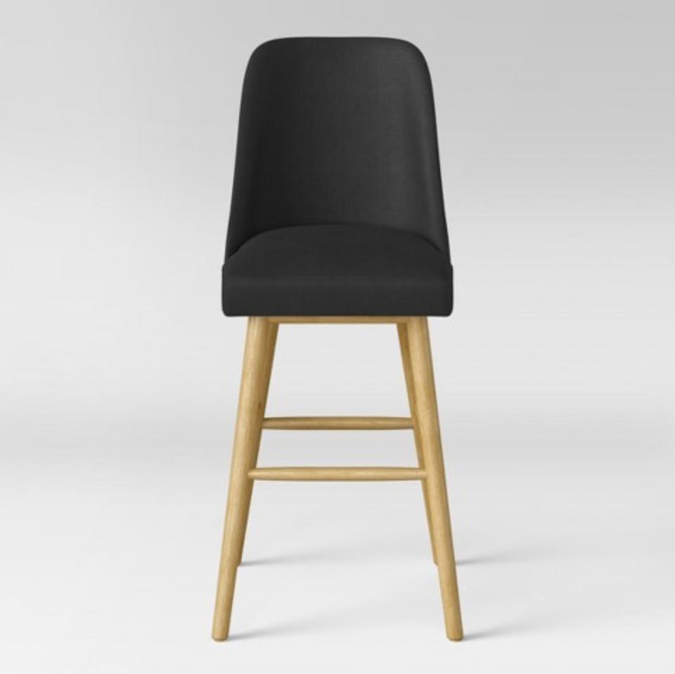 modern upholstered bar stool