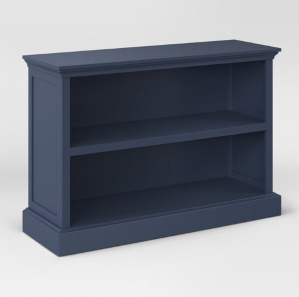 navy blue bookcase