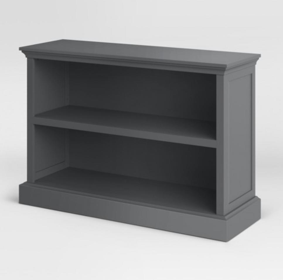 cheap gray bookcase