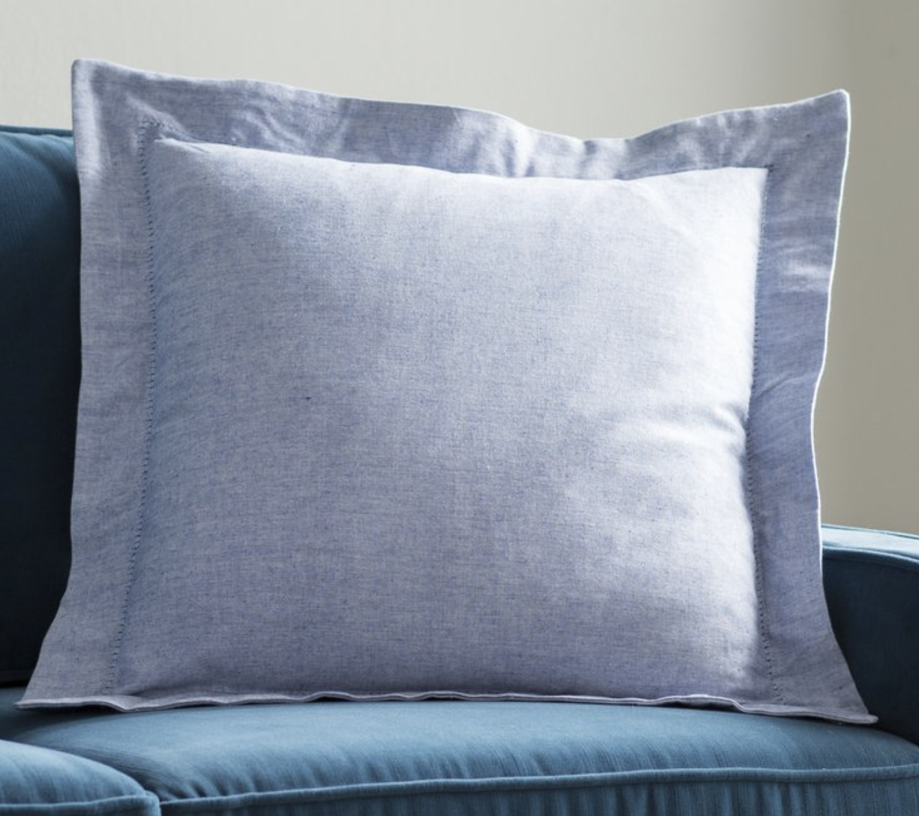 blue linen throw pillow Serena and lily look for less