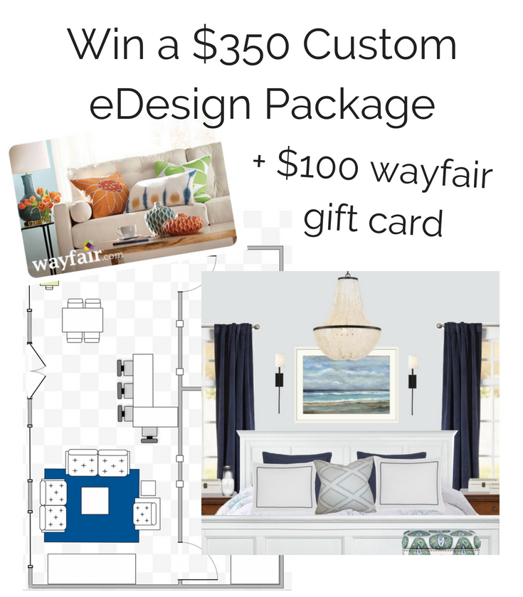 wayfair gift card and design package giveaway