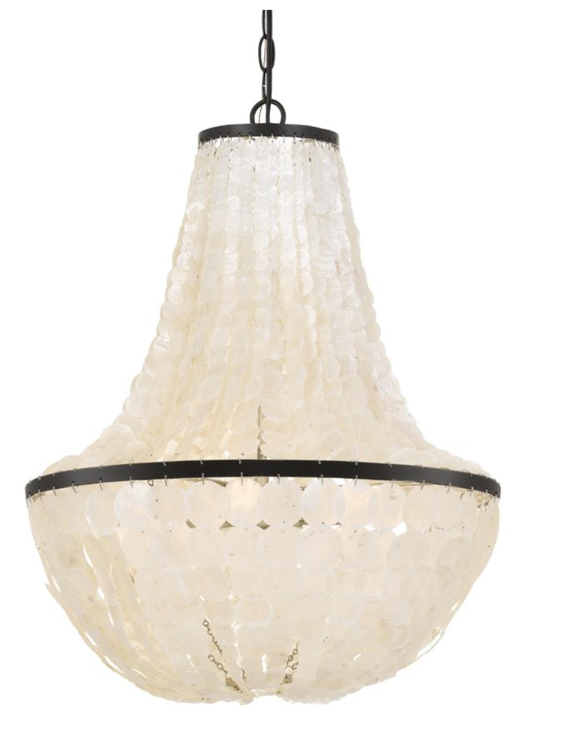 Cadiz shell chandelier