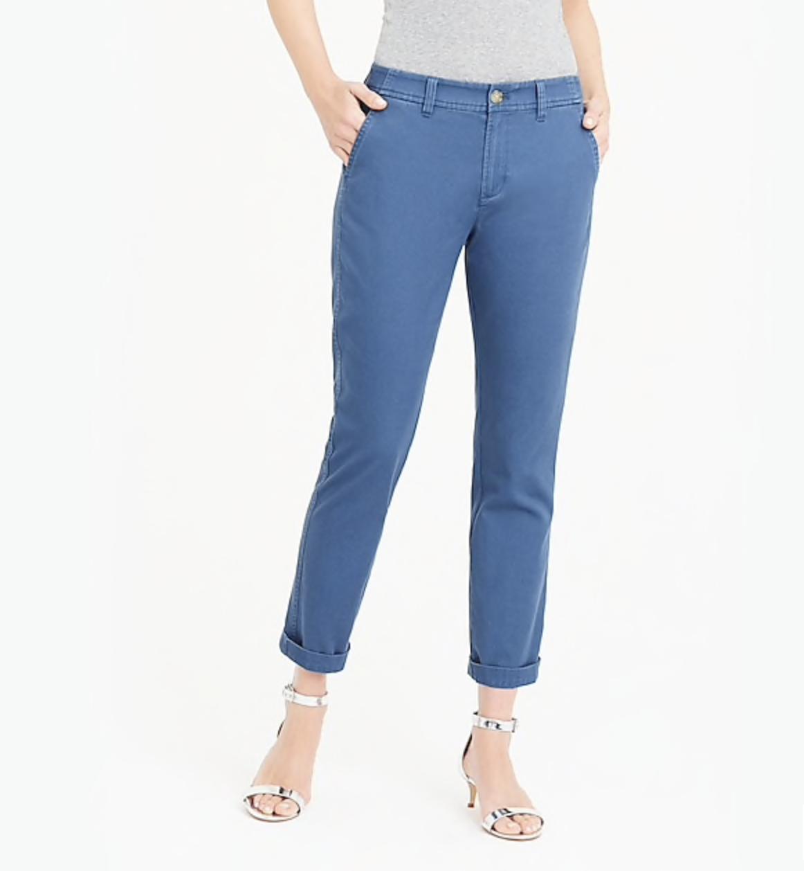 perfect blue khaki style pants
