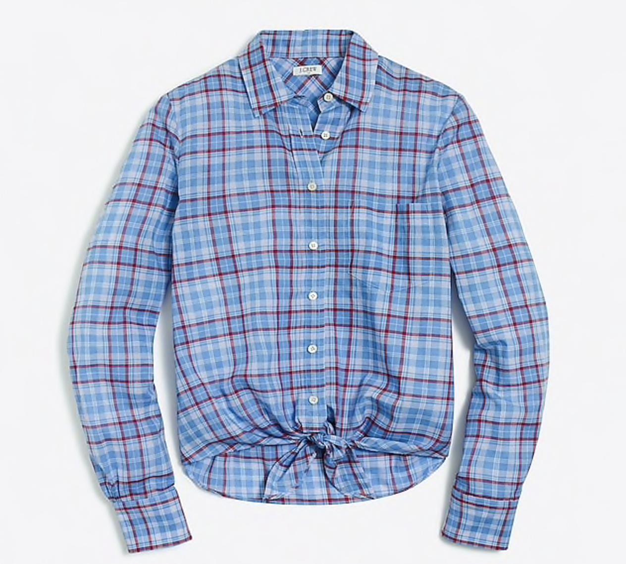 fashion deals casual tie front button down shirt