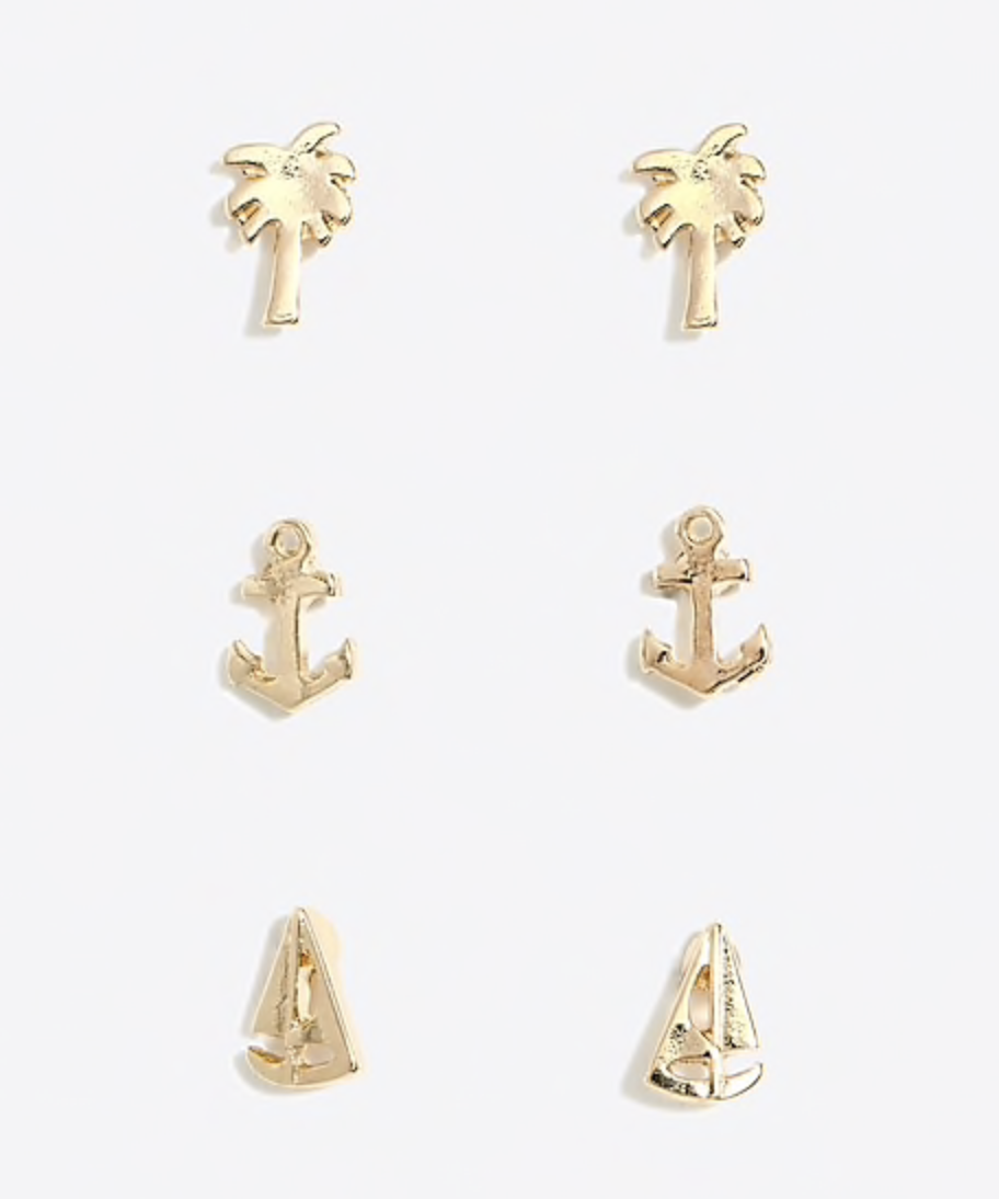nautical stud earrings
