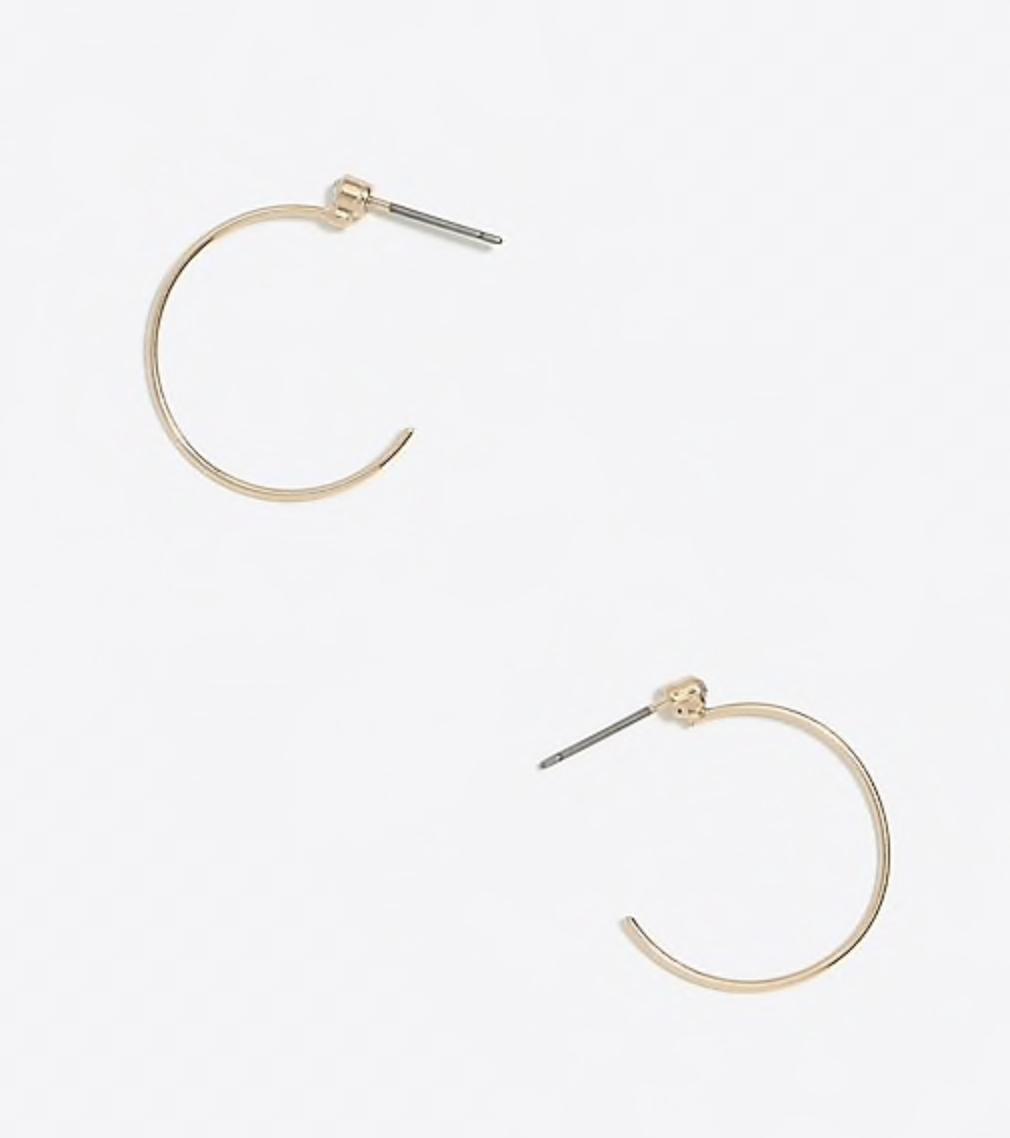 perfect lightweight gold hoop earrings