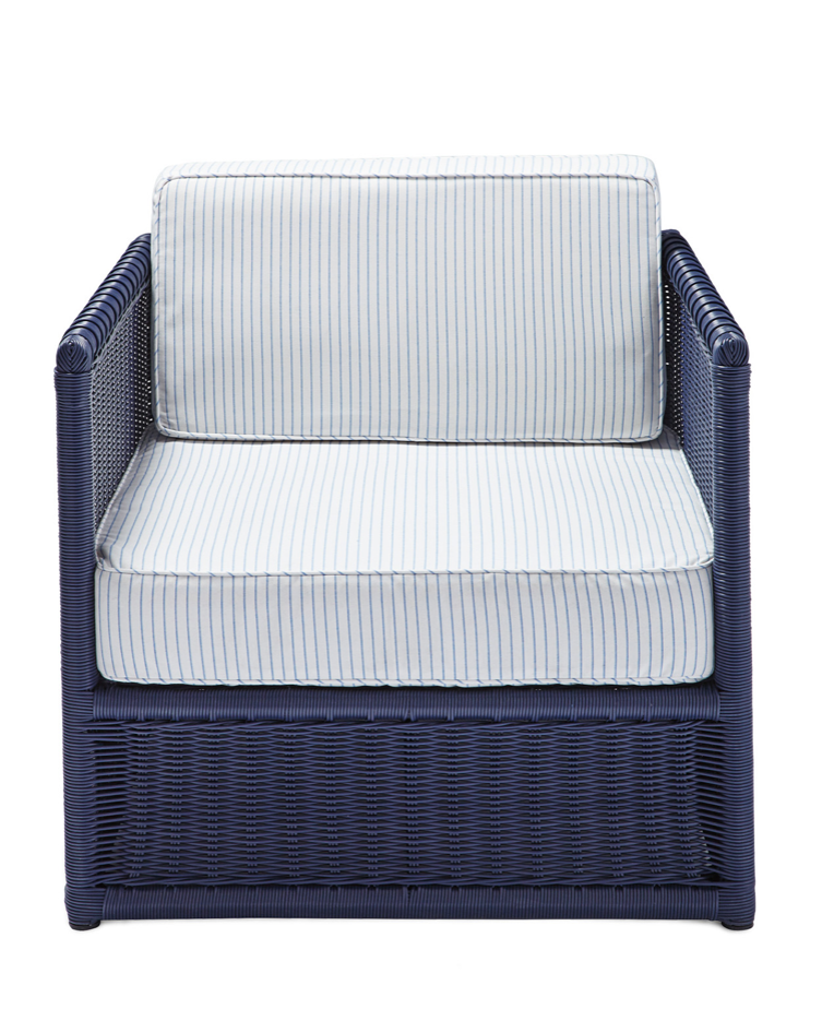 navy blue outdoor chair