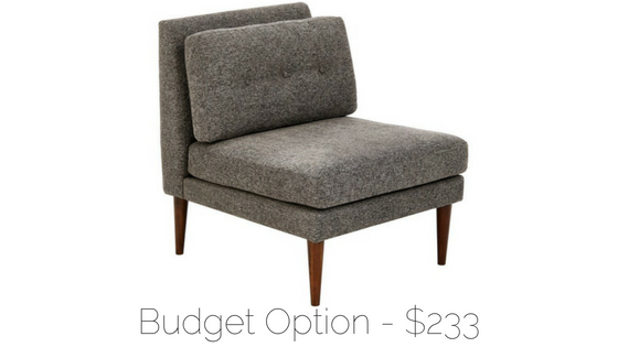 affordable midcentury chair