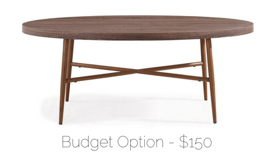affordable midcentury coffee table