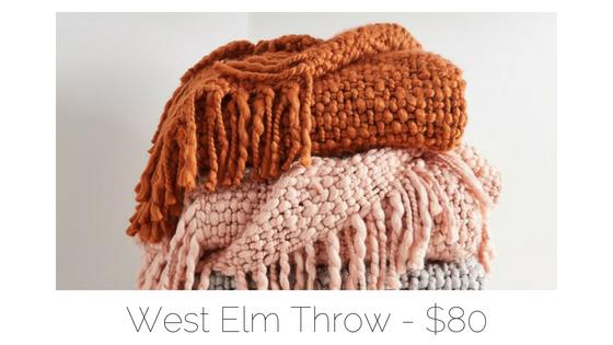 west elm throw