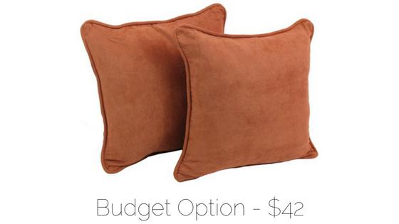 budget throw pillows pair