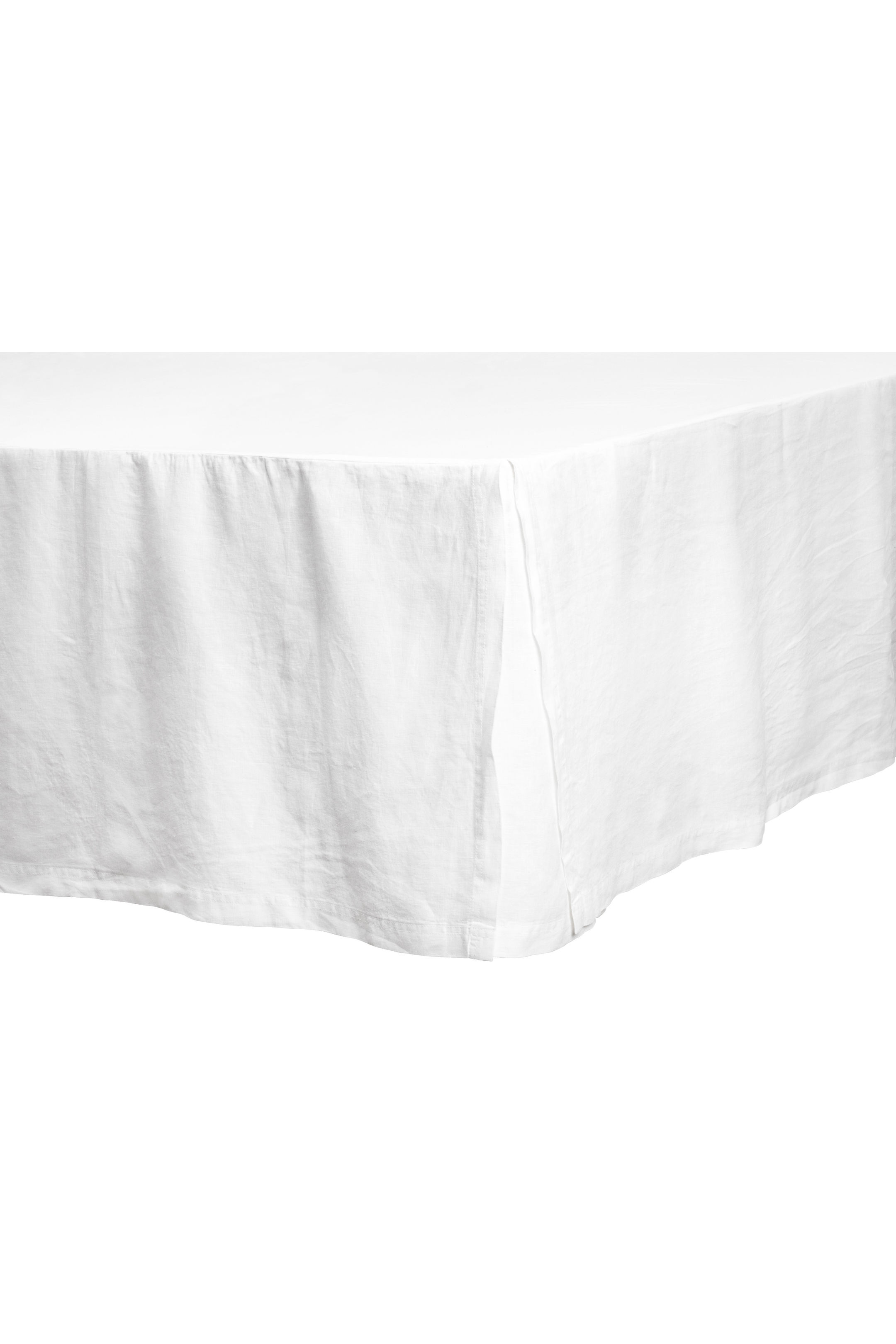 washed cotton bedskirt