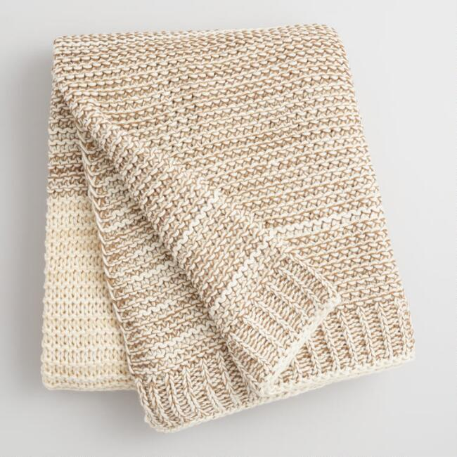 affordable knit throw