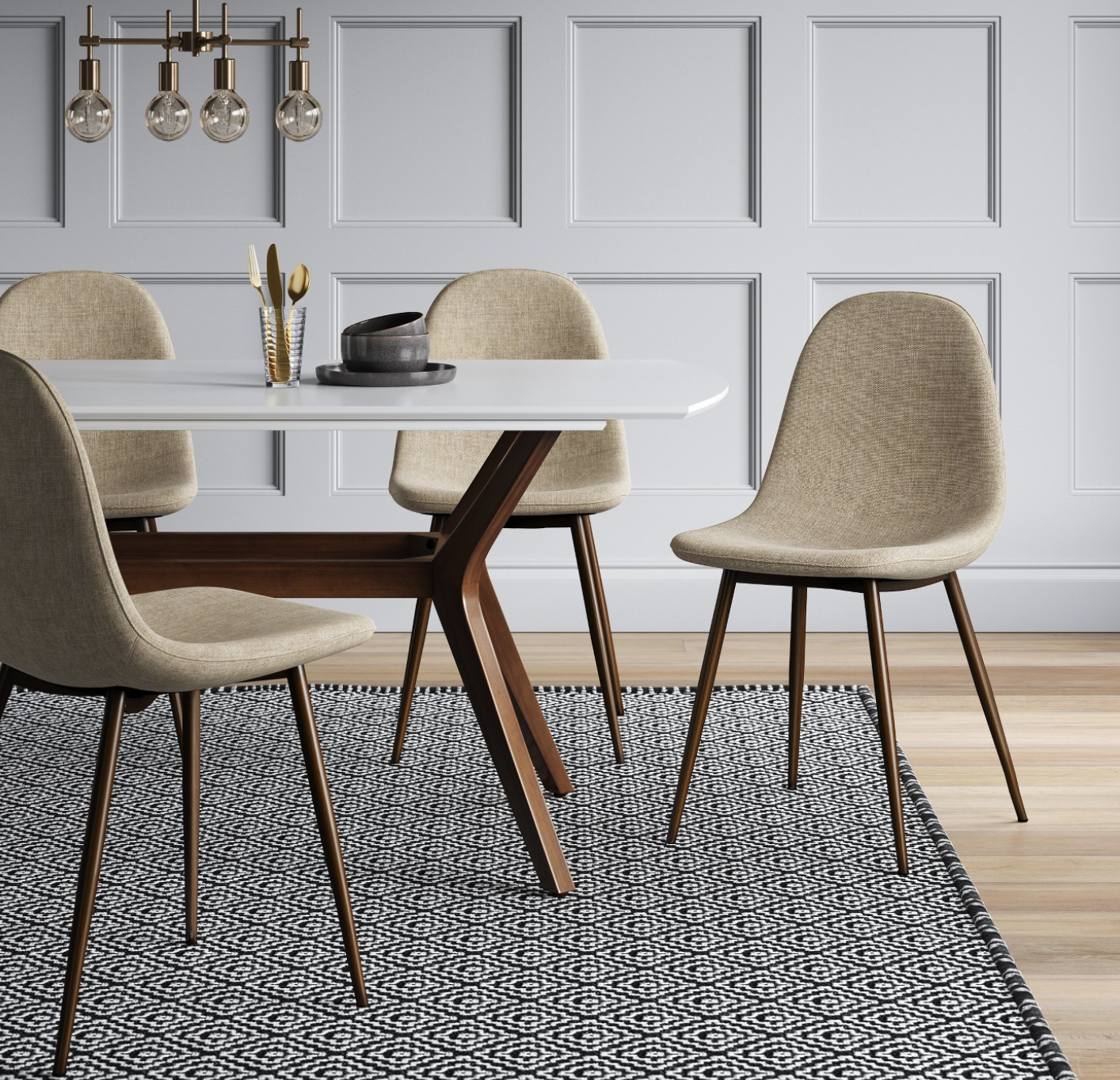 modern dining room on a budget