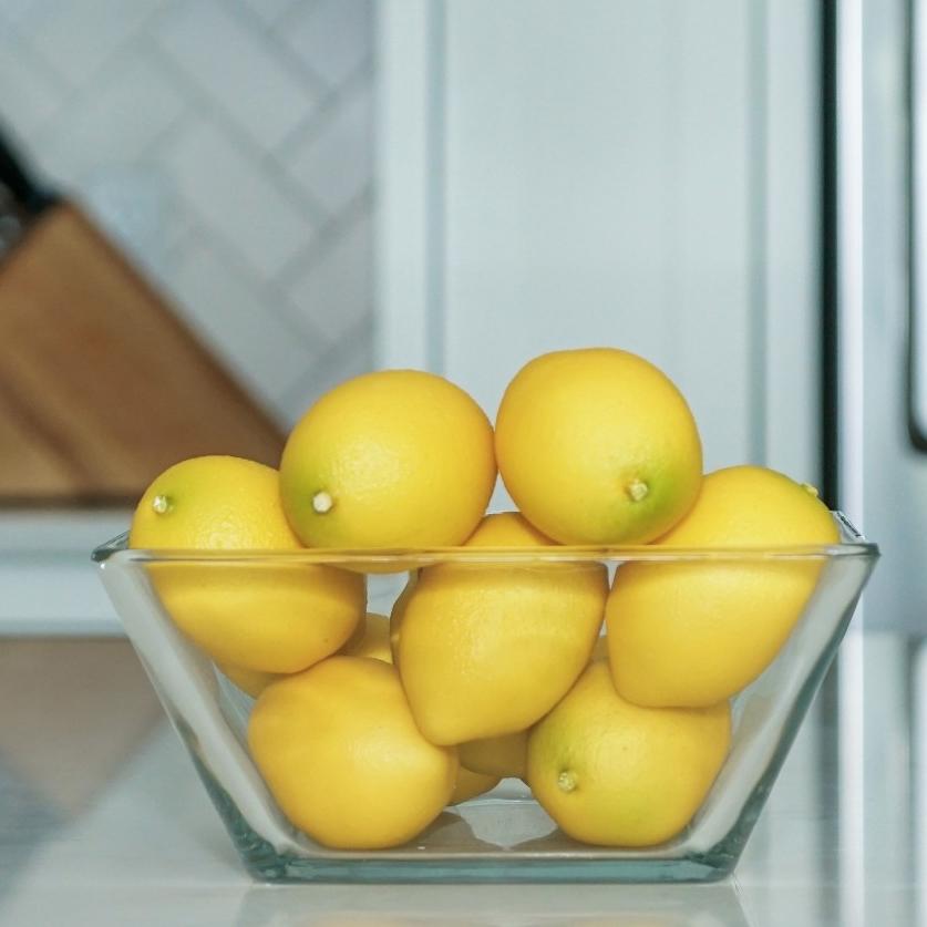 kitchen decor - artificial lemon vase filler