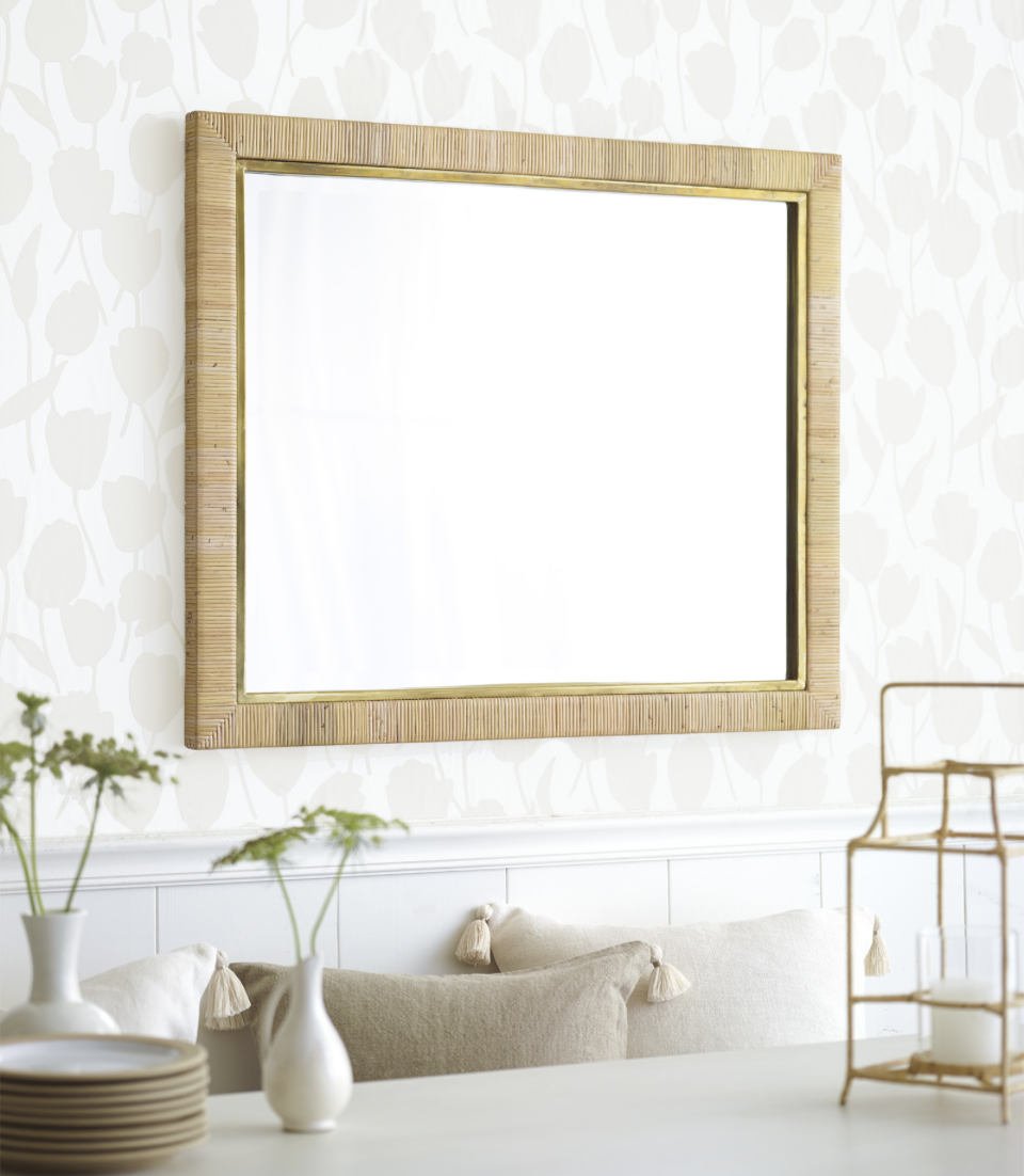 neutral dining room wallpaper