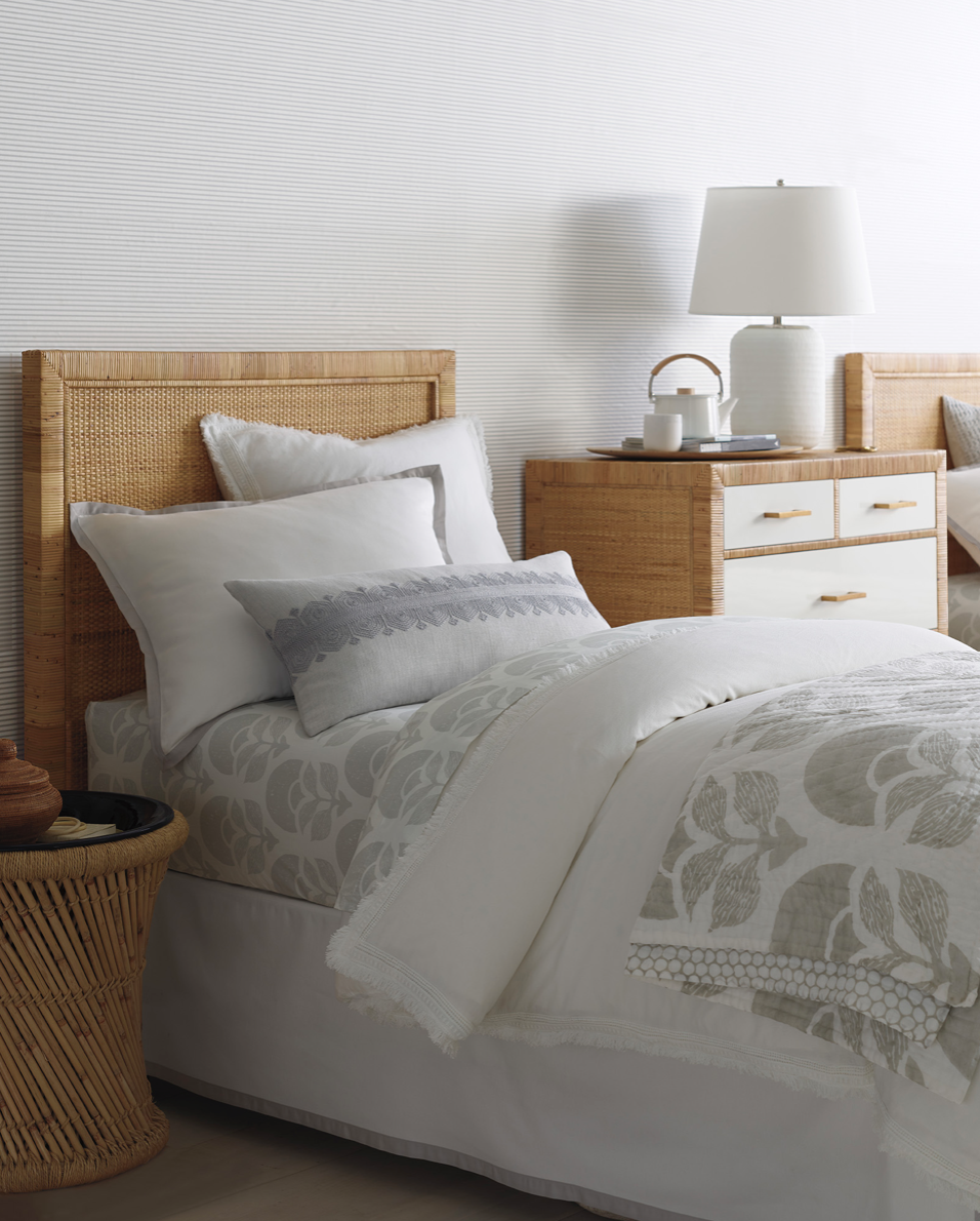 neutral bedroom decor with a modern coastal vibe