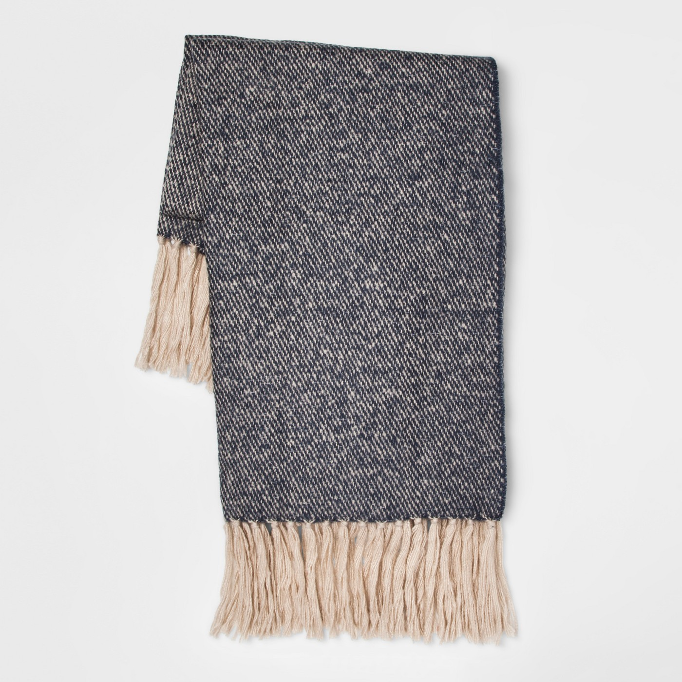 updating the house for autumn and winter - navy blue throw