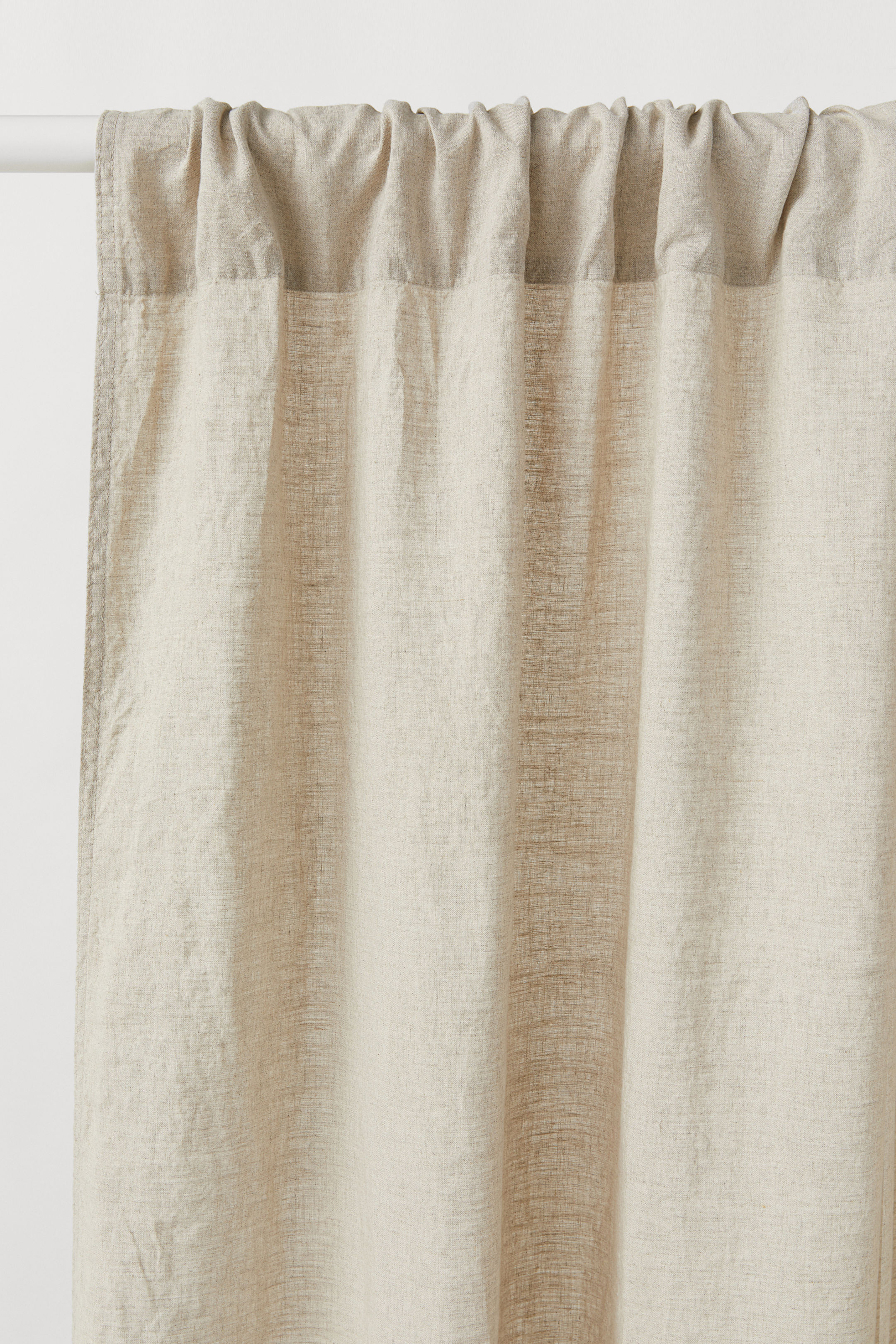 coastal cottage style budget linen curtain panels