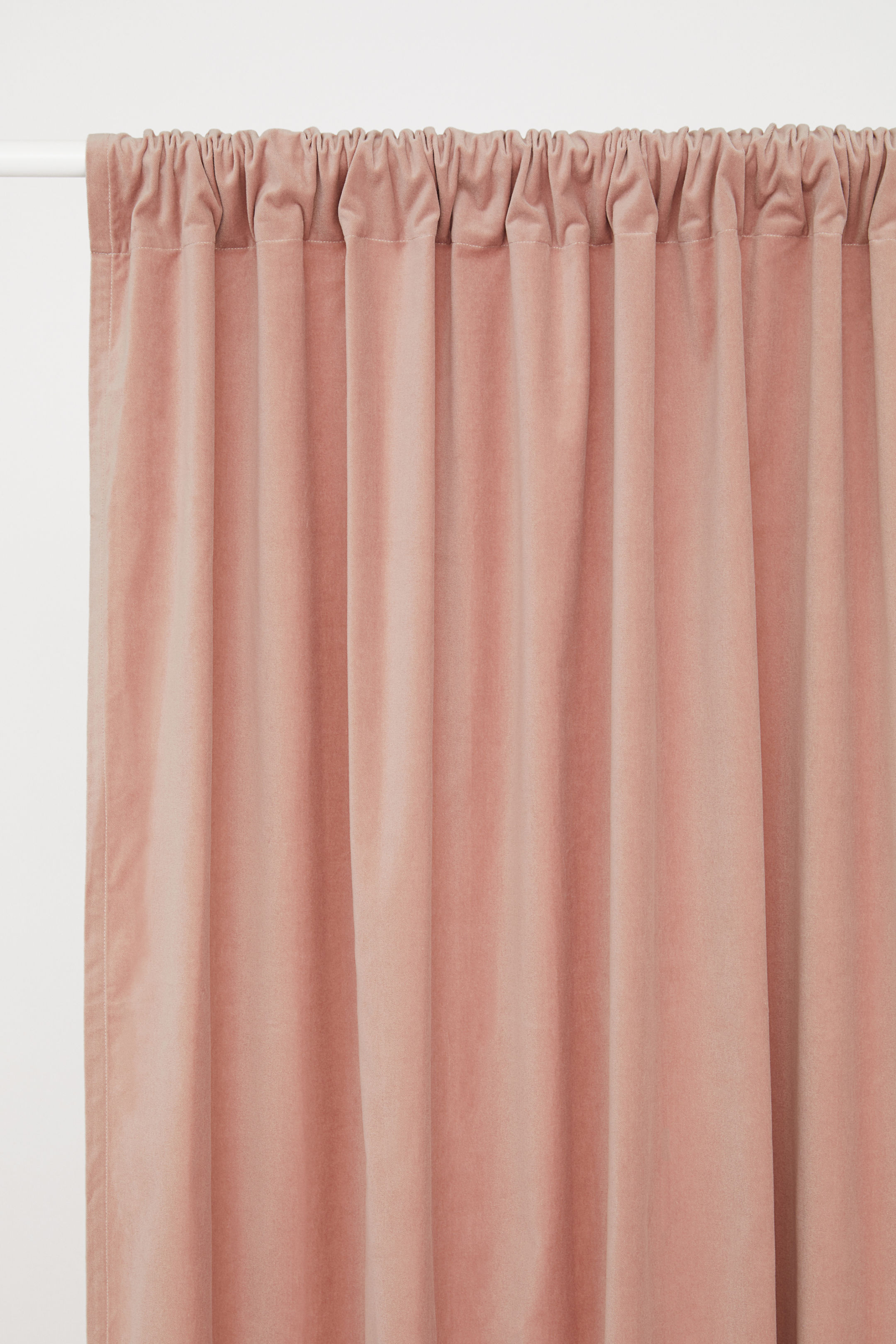 modern dining room look - budget velvet curtain panels in blush pink