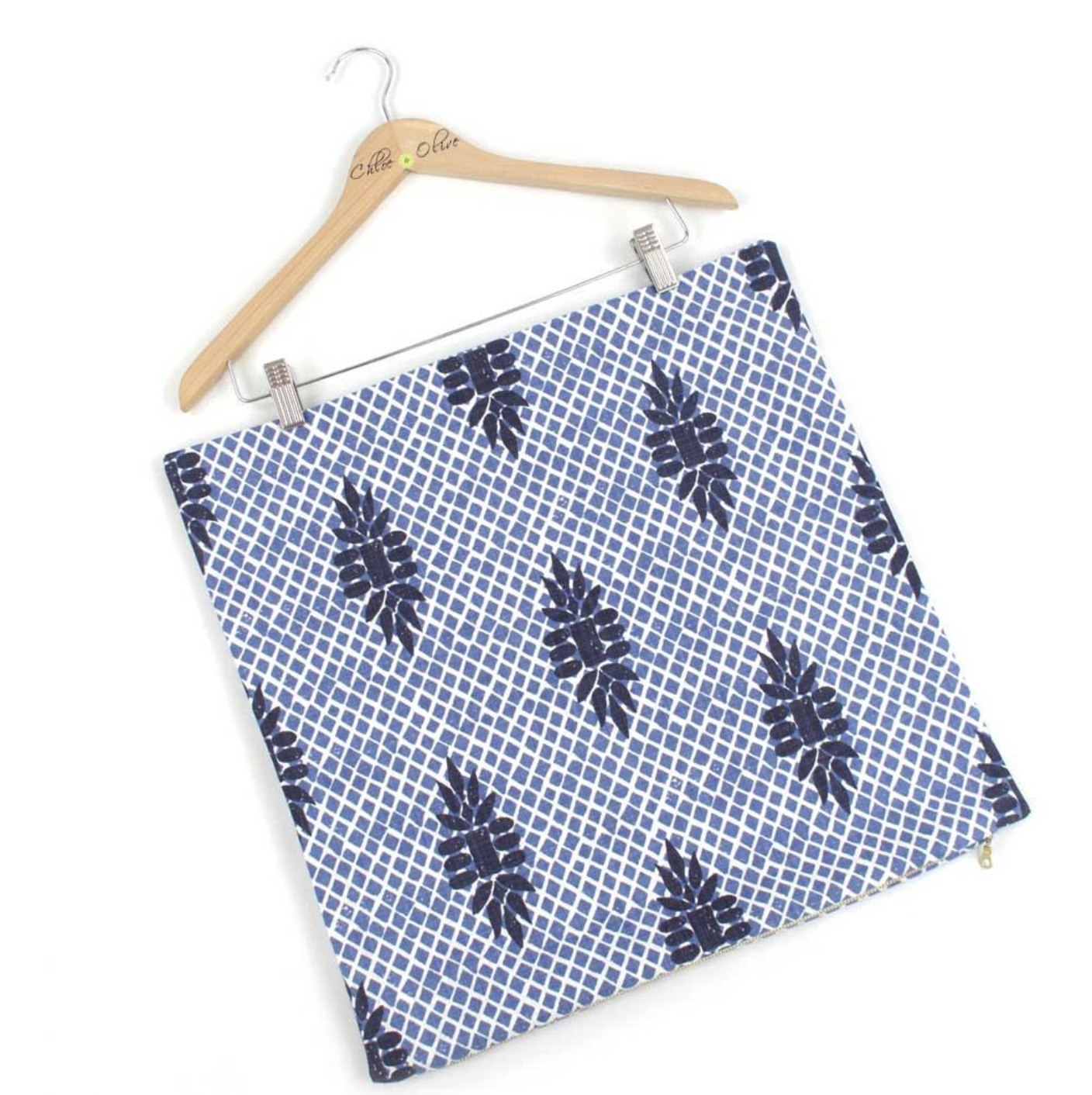 blue and white home decor - this pillow cover can feel modern and traditional with a global flair